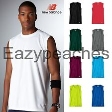 NEW BALANCE Men's Sleeveless ATHLETIC WORKOUT Gym T-Shirt dri-fit S-2X 3XL N7117