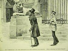 Bayard LION  INSTITUTE DE FRANCE 1898 Art Print Matted