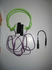 Kidz Gear Wired Headphones For Kids - Green/Purple