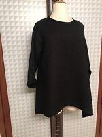 *Yakoot by AKH* Pullover, schwarz, farbgleich gemustert, Gr 50-54