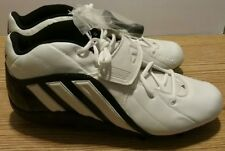 addidas quick slant cleats mens size 13.5 detachable white and black in color