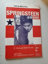 Springsteen & Seeger, Pittsburgh Ballet Theatre, Program April 29-May 2, 2004