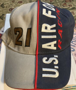 US Air Force Nascar racing hat # 21 StrapBack cap vintage