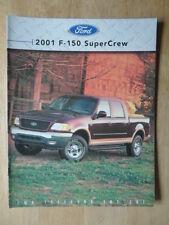 FORD F-150 super Crew ORIG 2001 canadien MKT la brochure commerciale-XLT Lariat