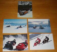 5 Vintage 1988? SKI-DOO SNOWMOBILE Advertising Postcards MACH 1 FORMULA PLUS MX