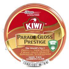 KIWI Premium Parade Gloss Mid Tan Shoe Polish 50 ML Shiner For Leather Boot