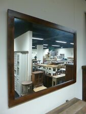New Large Dark Reclaimed Wood Wall Mirror 138 x 57cms *Furniture Store*