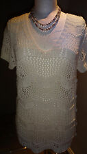 Pretty loose knit Tunic style top by Nina Murati Size XL