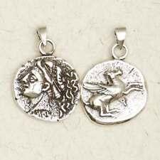 Aphrodite Olympian Goddess-Pewter/Greek/Silver/Coin/Pagan/Pendant/Jewelry