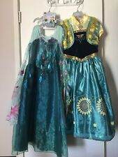 Disney Store Frozen Fever Elsa and Anna Costumes Size 7/8
