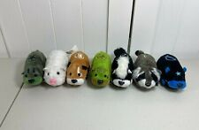 Zhu Zhu Pets Hamster Friends Mixed Lot of 7 Skunk Raccoon Green White Tested