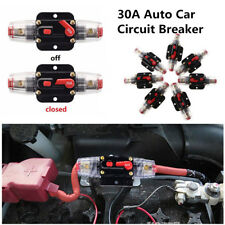 12v-24v Inline Auto Circuit Breaker 30a Manual Reset Switch Car Audio Fuse Dc30a