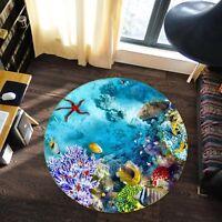 3D Ocean View 84 Non Slip Rug Mat Room Mat Round Quality Elegant Photo Carpet US