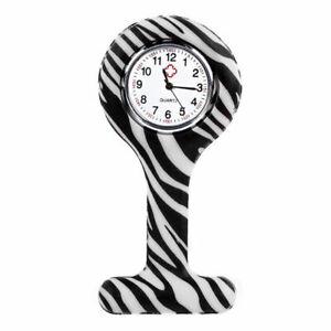 Nurse Watch New stripes Styles Print Silicone Brooch Tunic Fob Hot Print Nurse