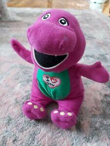 "Barney The Purple Dinosaur 9"" Singing 'I Love You' Soft Plush Toy Teddy"