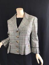 D&G Dolce & Gabbana Wool Plaid Blazer Jacket SZ 48