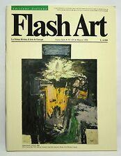 rivista FLASH ART n° 131 marzo1986 giovanni testori ben vautier giosetta fioroni