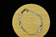 "Braided Magic Chain Bracelet #X26276 7"" Silver Plated Flat Shiny"