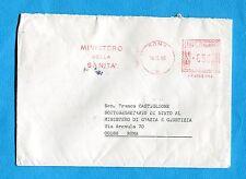 1988 ROMA / MINISTERO DELLA SANITA' £.650 su lettera  (257122)