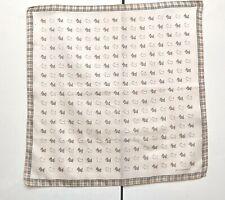 Burberry Bandana Pocket Square Handkerchief Neckerchief Nova Check Dogs