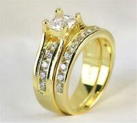 14K gold diamond ring US size 6-13 Oversized size Fashion Golden Ring