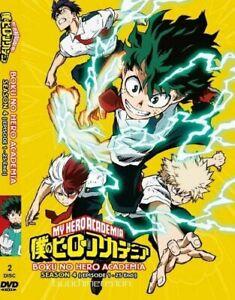 DVD Japanese Anime My Hero Academia Sea 4 Episode 1-25 English Dubbed / Subtitle