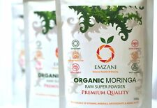 MORINGA Pure Organic Raw Powder 100 g PREMIUM QUALITY (U.K) by EMZANI