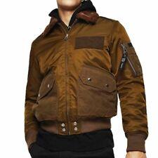 Diesel Jeans W-Slotkin-A Jacket  Flight Bomber Jacket - Green / Brown Ship World