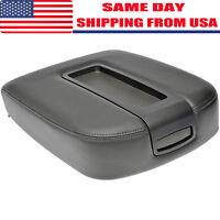 For Chevrolet Silverado GMC Sierra Ebony / Black Center Console Armrest Lid