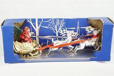 Bradford Vtg Plastic Christmas Decoration Ornament Santa Sleigh Reindeer Tree