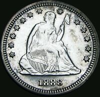 1888-S Seated Liberty Quarter US Type Coin ----  STUNNING L@@K  ----   #X795