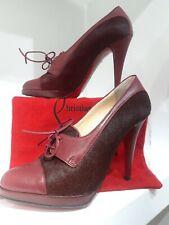 Christian Louboutin Borgoña Invierno Con Cordones Zapatos. 37/37.5
