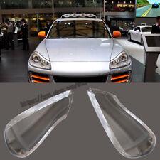 For Porsche cayenne 2008-2010 Headlight Headlamp Lens Cover Right&Left 2pcs