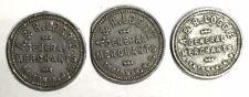 A & R Loggie General Merchants New Brunswick Token Collection Lot (3 Pieces)