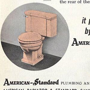 1930s TOILETS, SINKS & BATH TUBS vintage advertising pamphlet AMERICAN-STANDARD