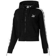 Puma Revolt Zip Up Hoodie Womens Terry Track Top Black 578594 01