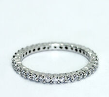 Sterling Silver Round CZ Cubic Zirconia Eternity Band Ring Size 9.75