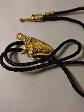 looking six shooter unmarked vintage bolo tie gold