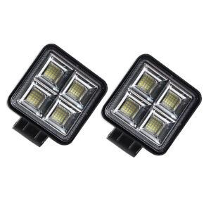 2* Car Driving Lamp 12-30V Aluminium Alloy LED High-bright Work Light Waterproof