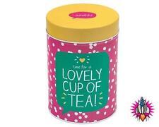 Feliz Jackson preciosa taza de té de té de almacenamiento de caja de hojalata