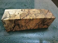 SPALTED HACKBERRY DELUXE KNIFE BLOCK/SCALES/ CALLS/ PEN BLANKS--HH---22