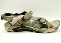 Merrell Taupe Pink Leather Adjustable Outdoor Driving Sandals Shoes Women's 10