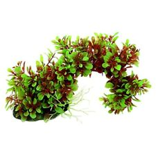 Artificial Green Red Bow Style Plant Ornament for aquarium R7T2