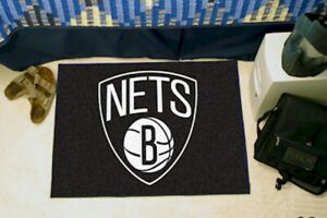NBA Brooklyn Nets Basketball Starter Mat Rug 19x30 Inch