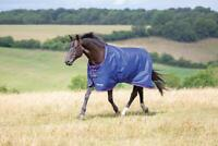 Shires Tempest Original 100g Horse Outdoor Turnout Rug in Navy