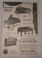 1964 Baldwin Organs - Weyand's Atlantic City New Jersey Advertisement