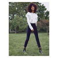 Paige Women's Ivory White Farren Ruffle Top Long Sleeve Shirt Sz XS