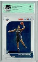 PGI 9 Zion Williamson 2019 NBA Hoops #258 Rookie Card Mint