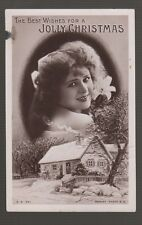 "[57036] 1908 ROTARY PHOTO POSTCARD ""THE BEST WISHES for a JOLLY CHRISTMAS"""