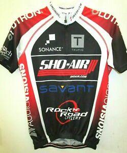 SQUADRA | Men's Cycling Jersey | Full Zip/Black/Red/White | S | FREE SHIPPING!!!